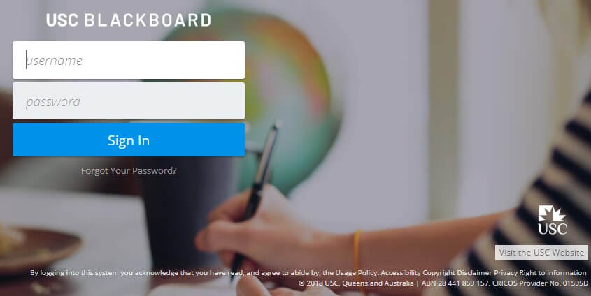 USC Blackboard Login