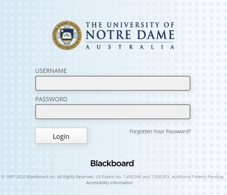Notre Dame Blackboard